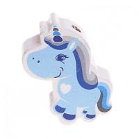 Figurita PREMIUM-  Unicornio 30x20 mm - Azul bebe 18