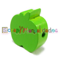 Figurita de madera PREMIUM- Manzana 20x20 mm- Verde lima