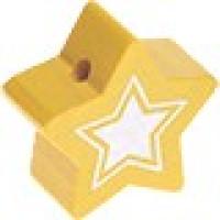 Figurita de madera PREMIUM- Estrella 22 mm Glitz - Amarillo 11