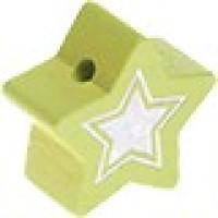 Figurita de madera PREMIUM- Estrella 22 mm Glitz - Limon 26