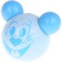 Figurita PREMIUM- Ratoncito simpatico 3D 25x30 mm- Azul bebe