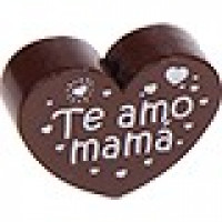Figurita PREMIUM- Corazon Te amo mama 30x25 mm - Chocolate 23