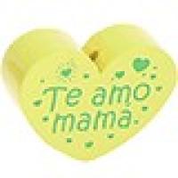 Figurita PREMIUM- Corazon Te amo mama 30x25 mm - Limon 26