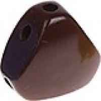 Figurita madera PREMIUM-  Cuerpo 25.5x16 mm - MARRON CHOC liso