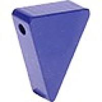 Figurita madera PREMIUM-  Banderin 20x25x8 mm - Azul marino 21