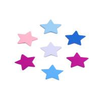 Figurita de madera Estrellas 19 mm - 20 uds mix colores