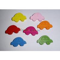 Figurita coche colores madera 20x15 mm- Lote 30 uds