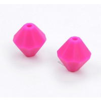 Diamante de silicona 15x15 mm- Color Fucsia