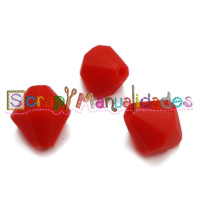 Diamante de silicona 15x15 mm- Color Rojo