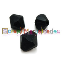 Diamante de silicona 15x15 mm- Color Negro