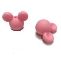 Cabezas de raton silicona 24x20x14 mm- Color Rosa Claro