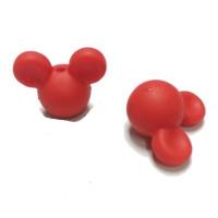 Cabezas de raton silicona 24x20x14 mm- Color Rojo 14