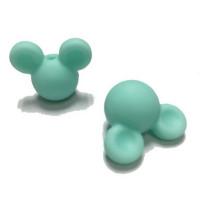 Cabezas de raton silicona 24x20x14 mm- Color Menta 30