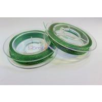 Hilo de acero plateado fino, grosor 0.45mm,Color verde (10 m)