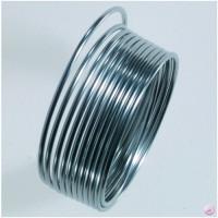 Hilo de aluminio 1 mm plateado ( 2 metros)