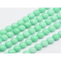 Hilera bolas de gema natural JADE 6 mm verde pastel  (60 uds)