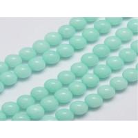Hilera bolas de gema natural JADE 6 mm turquesa pastel  (60 uds)
