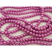 Hilera de perla cristal 6 mm color violeta( 200 uds aprox)