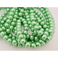 Hilera de perla cristal 6 mm color verde  ( 140 uds aprox)