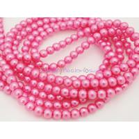 Hilera de perla cristal 6 mm color fucsia ( 200 uds aprox)
