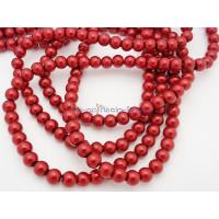 Hilera de perla cristal 6 mm burdeos ( 140 uds aprox)