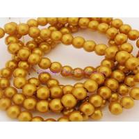 Hilera de perla cristal 6 mm dorado ( 140 uds aprox)