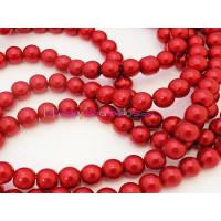 Hilera de perla color rojo cristal 8 mm (110 uds aprox)