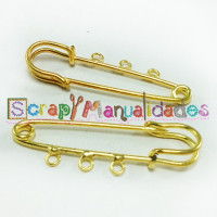 Imperdible dorado 3 asas, 51x16  mm
