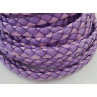 Tira de lato trenzado plano 10 mm. Bicolor violeta (20 cm)