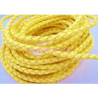 Cordón lato trenzado redondo 4 mm. Color amarillo (20 cm)