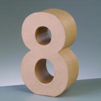 Numero 8 de carton 17.5x5.5 cm para decorar con tecnicas Scrap