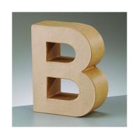 Letra B de carton 17.5x5.5 cm para decorar con tecnicas Scrap