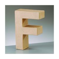 Letra F de carton 17.5x5.5 cm para decorar con tecnicas Scrap