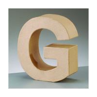 Letra G de carton 17.5x5.5 cm para decorar con tecnicas Scrap