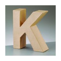 Letra K de carton 17.5x5.5 cm para decorar con tecnicas Scrap