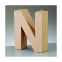 Letra N de carton 17.5x5.5 cm para decorar con tecnicas Scrap