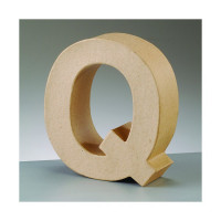 Letra Q de carton 17.5x5.5 cm para decorar con tecnicas Scrap
