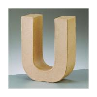 Letra U de carton 17.5x5.5 cm para decorar con tecnicas Scrap