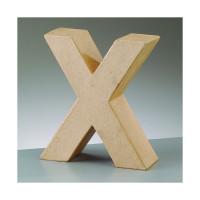 Letra X de carton 17.5x5.5 cm para decorar con tecnicas Scrap