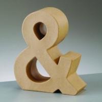 Letra & de carton 17.5x5.5 cm para decorar con tecnicas Scrap
