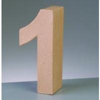 Numero 1 de carton 10/10.5x3 cm para decorar con tecnicas Scrap