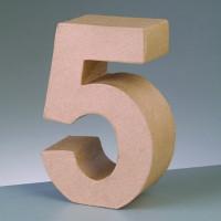 Numero 5 de carton 10/10.5x3 cm para decorar con tecnicas Scrap