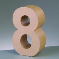 Numero 8 de carton 10/10.5x3 cm para decorar con tecnicas Scrap