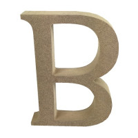 Letra en DM- Altura aprox 12 cm- Grosor 2 cm- Letra B