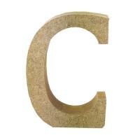 Letra en DM- Altura aprox 12 cm- Grosor 2 cm- Letra C