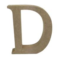 Letra en DM- Altura aprox 12 cm- Grosor 2 cm- Letra D