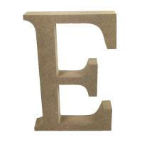 Letra en DM- Altura aprox 12 cm- Grosor 2 cm- Letra E
