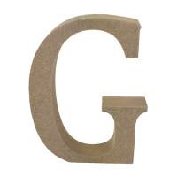 Letra en DM- Altura aprox 12 cm- Grosor 2 cm- Letra G