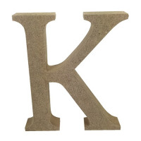 Letra en DM- Altura aprox 12 cm- Grosor 2 cm- Letra K