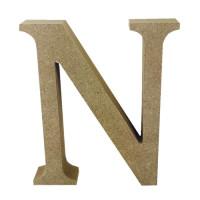 Letra en DM- Altura aprox 12 cm- Grosor 2 cm- Letra N